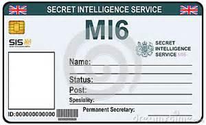 mi6 id card template identit 233 un secret de mi 6 illustration de vecteur