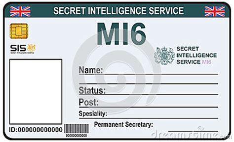 mi6 id card template identit 233 un secret de mi 6 illustration de vecteur