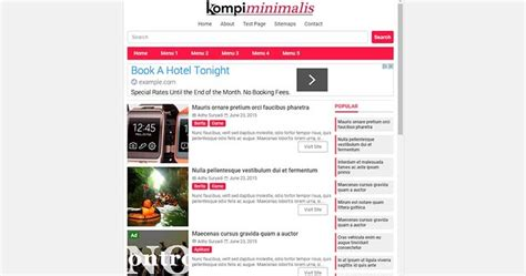 blogger template kompi minimalis valid html5 and amp