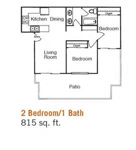 Bedroom 2 bath apartment floor plans on 2 bedroom 1 bathroom floor
