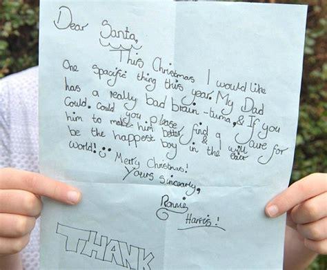 lettere scritte a babbo natale caro babbo natale guarisci mio padre dal cancro la