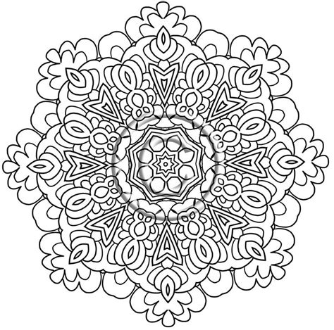advanced mandala coloring pages pdf instant pdf coloring page zentangle