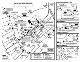c lejeune carolina map a c lejeune mainside map with food locations
