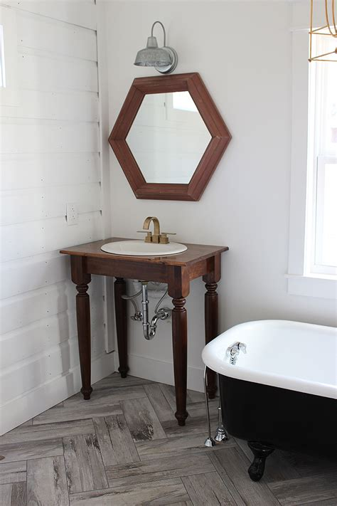 Farm Style Bathroom Vanity Diy Farmhouse Bathroom Vanities Thewhitebuffalostylingco