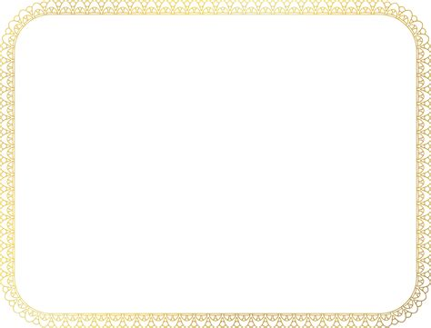 Certificate Frame Us Letter Clipart Certificate Border 2 Us Size