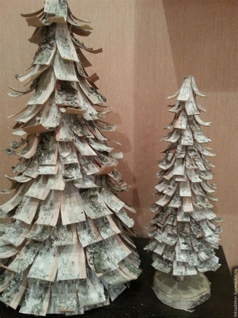 christmas tree made of birch bark shop online on