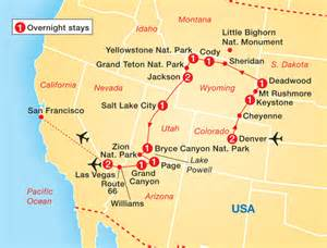 map of national parks western usa global coach tours cosmos tours usa national parks
