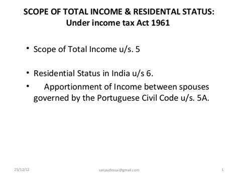 section 28 of income tax act 1961 lecture notes on scope of total income and residental