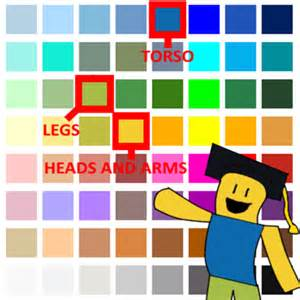 correct noob colors roblox