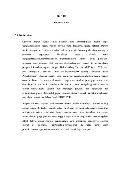 membuat makalah tentang otonomi daerah makalah otonomi daerah