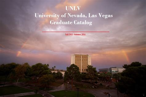 Unlv Mba Class Schedule by Of Nevada Las Vegas Acalog Acms