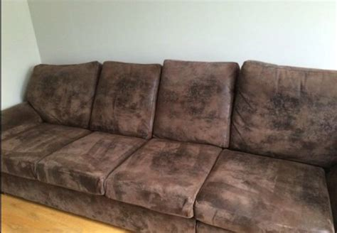 suede and leather couch brown suede leather corner couch for sale in ballymount
