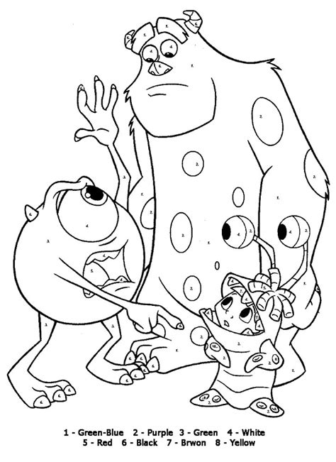 color by numbers coloring pages for kids az coloring pages
