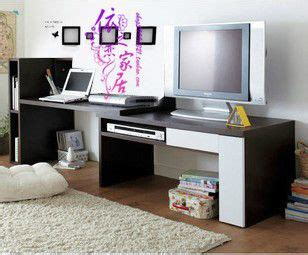 Desk For Tv And Computer Tv And Desk Combo Decor Pinterest Bookcase Desk Tv Stands And Desks