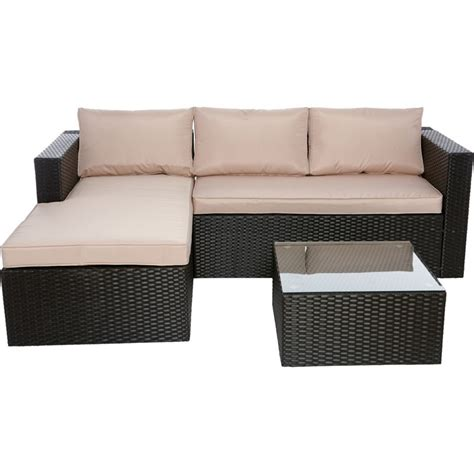 sofas homebase rattan corner sofa homebase rs gold sofa