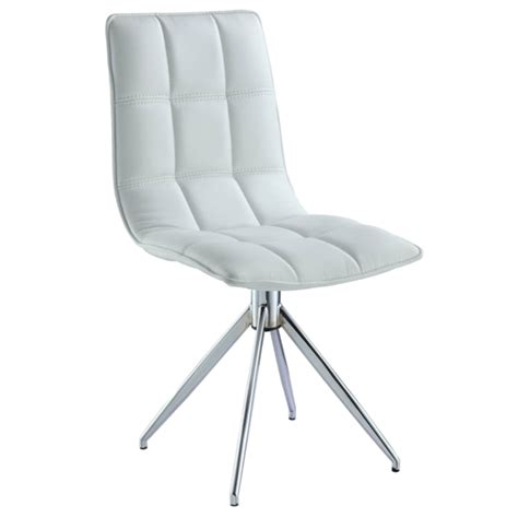 modern dining chairs white apollo white modern swivel dining chair eurway