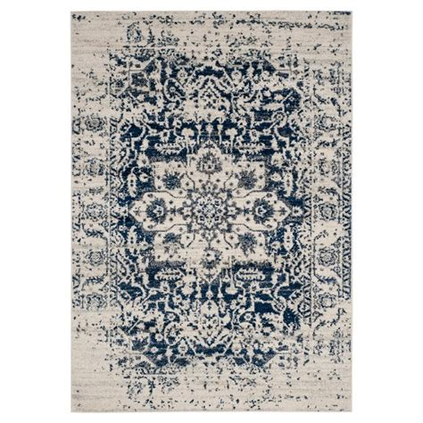 cleopatra rug navy botanical loomed area rug 5 1 quot x7 6 quot safavieh 174 target