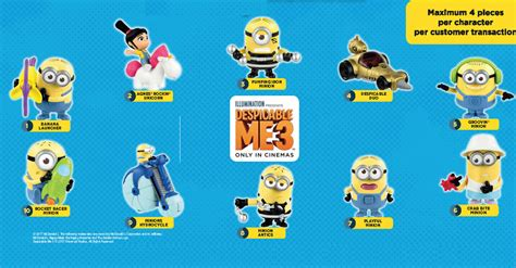 Free Mcdonalds Gift Card 2017 - mcdonald s free despicable me 3 toy with every happy meal purchase valid from 1