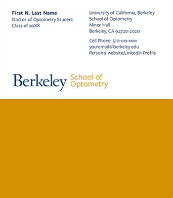 Cost Of Berkeley Mba Program by Ucprint Business Cards And Stationery