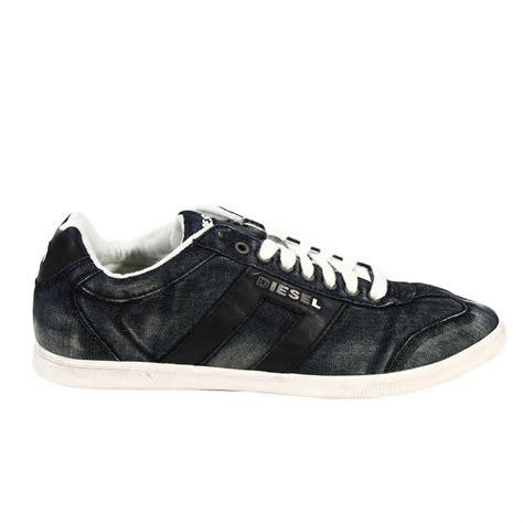 diesel shoes diesel shoes vintagy lounge sneaker denim used in black