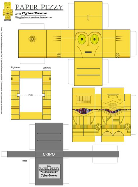C3po Origami - paper pezzy c 3po by cyberdrone on deviantart