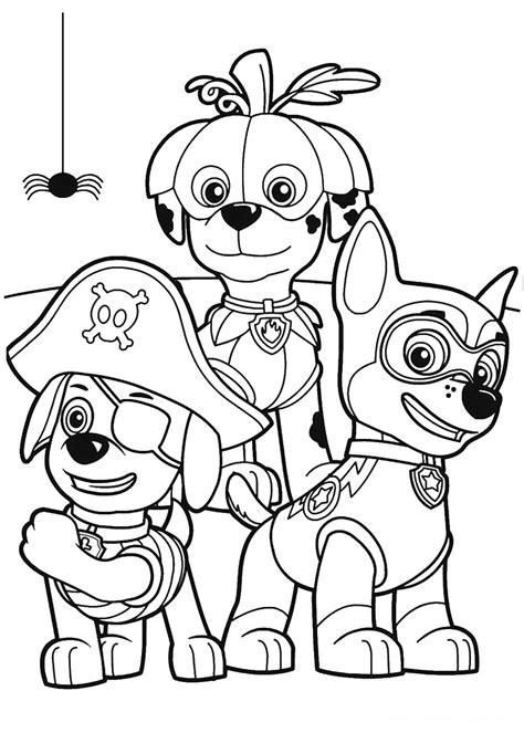 coloring page for paw patrol paw patrol coloring page 21 halloween pinterest paw