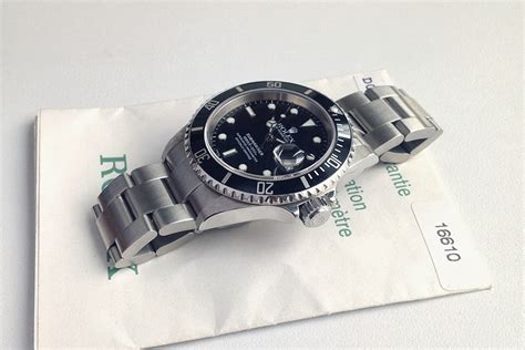 Jam Tangan Rolex Crown jam tangan second sold mint rolex submariner 16610 d series w paper
