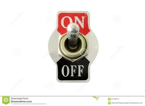 Switch Up closeup front view of toggle switch stock photo image 61186914