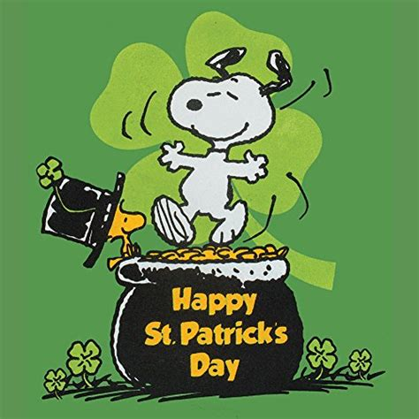 st patricks day reflection snoopy woodstock in top hat happy st patrick s day t