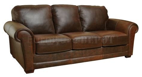 Whiskey Leather Sofa brown whiskey italian leather classic 4pc sofa set