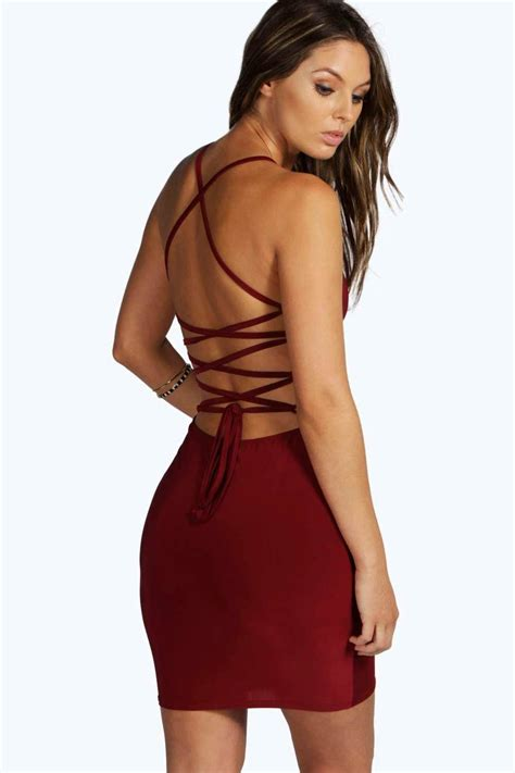 Strappy Dress boohoo lydia slinky strappy bodycon dress in save 17