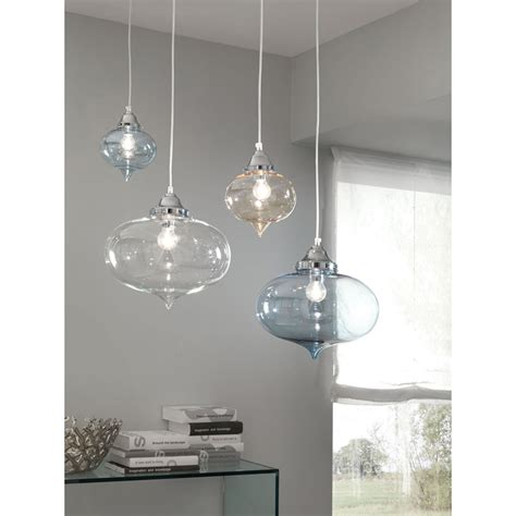 illuminazione a sospensione lada a sospensione 1 luce quot arabesque quot vetro liscio