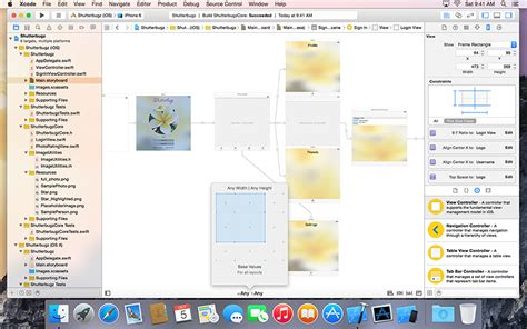 xcode table layout storyboards