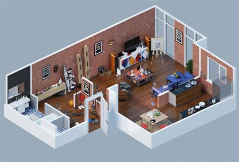 home design 3d textures apartment designs shown with rendered 3d floor plans