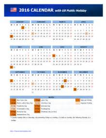 United States Of America Usa Kalender 2018 2016 Calendar Usa