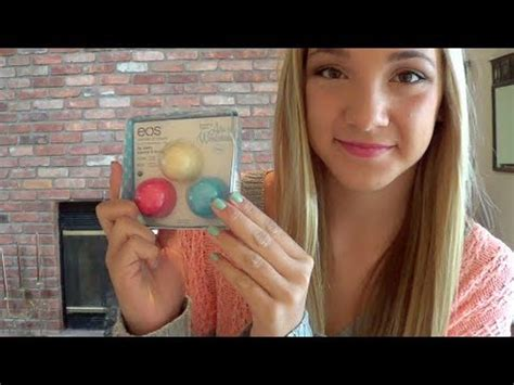new eos lipbalm alice in wonderland review! youtube