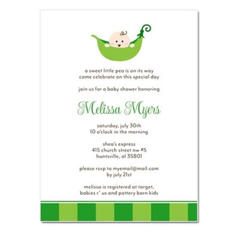 Pea In A Pod Baby Shower Invitations by Announces New Pea In A Pod Baby Shower Invitations