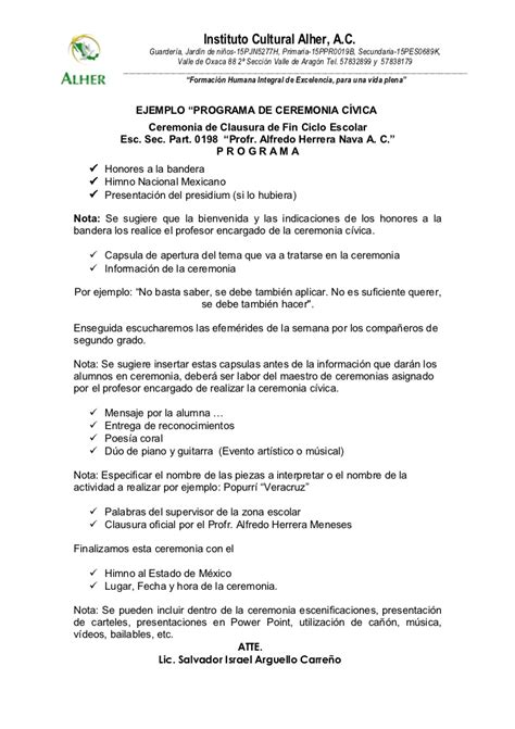 clausura de cursos atlas programa de clausura de fin de cursos primaria