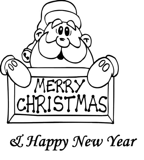 new year card template black and white merry coloring pages coloring home