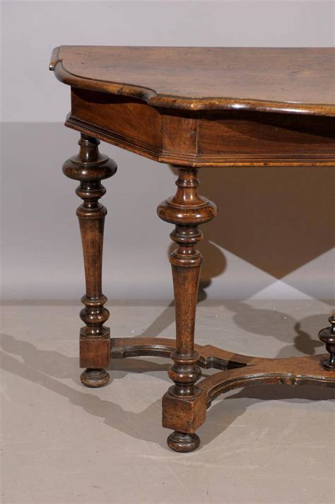 turned leg console table 17th century tuscany walnut console table with turned legs