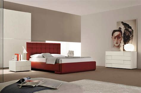 Stanley Dining Room Furniture by Modern Italian Red Eco Leather Bed Vg Luxury Modern