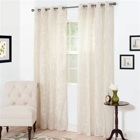 54 x 95 curtains lavish home semi opaque andrea white polyester curtain