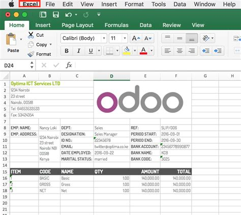 excel payslip template professional excel payslips odoo apps