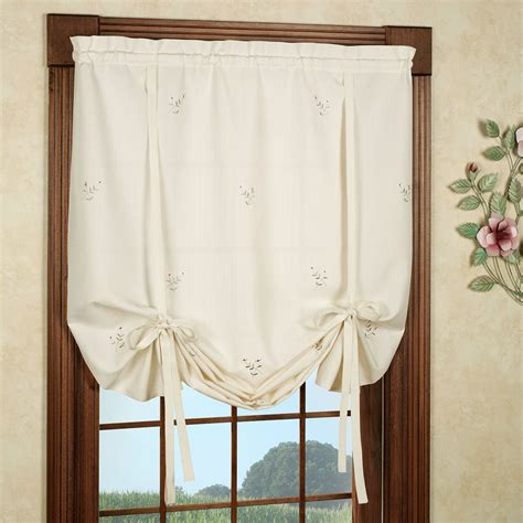 shades curtains tie up curtains forget me not tie up shade pottery barn