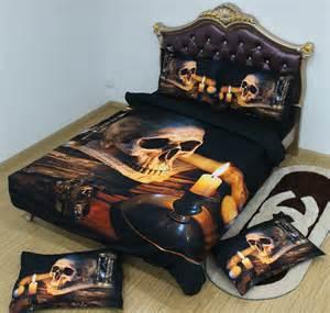 5pcs king size 3d comforter bedding sets cool skull print