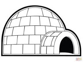 igloo coloring page snowhouse or igloo coloring coloring