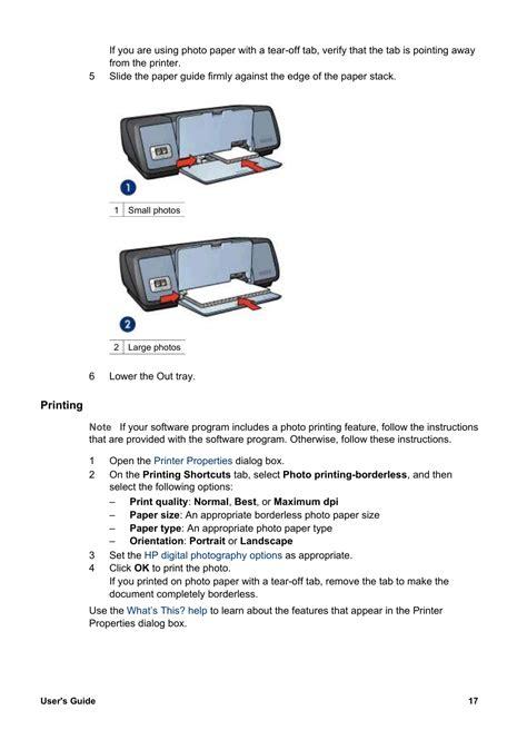 Printing Hp Deskjet 5740 Color Inkjet Printer User