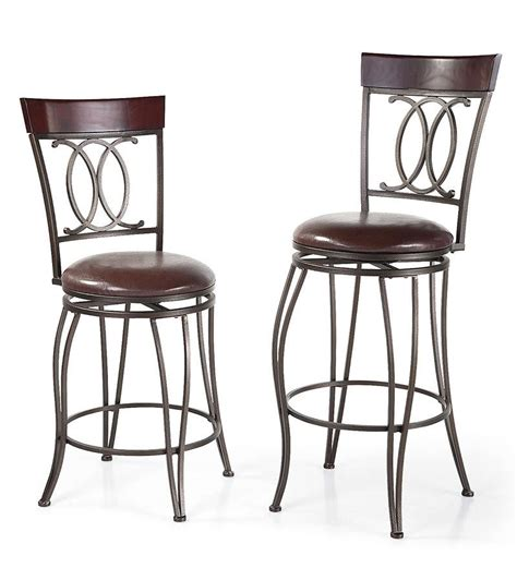 high back swivel bar stools richmond high back counter height swivel stool