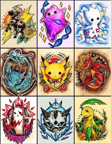 pokemon tattoo designs 27 best collection of illustration designs for