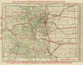 colorado road map antique map chart road map colorado national forests